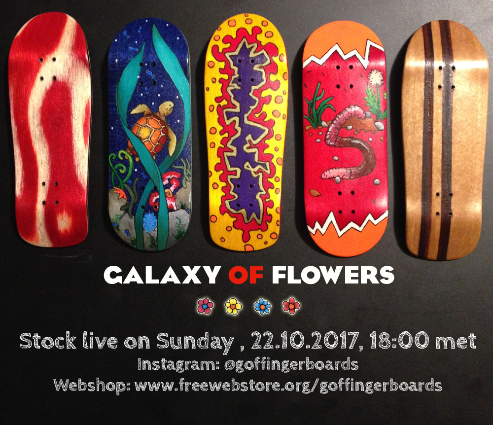 Galaxy of Flowers - Stock on 22nd of october 2017. Galaxyofflowers-stock-2017